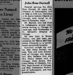Obit for John Ross DURNELL