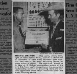 Clipping from Fort Lauderdale News 18  sept 1955