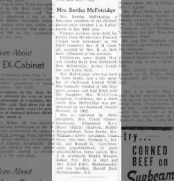Bertha McFetridge
