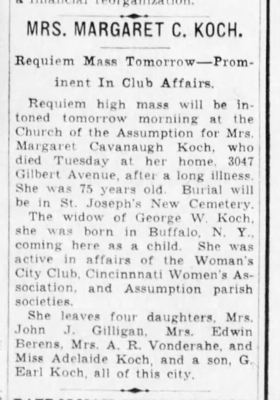 1938-07-21 Koch, Margaret obituary