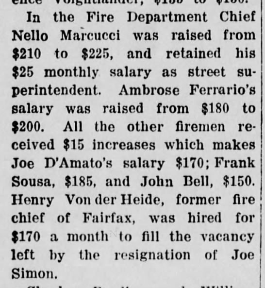 Joe simon resigns from Fire Dept 21 may 1942