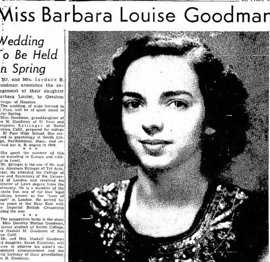 Barbara Goodman Ettinger Wedding