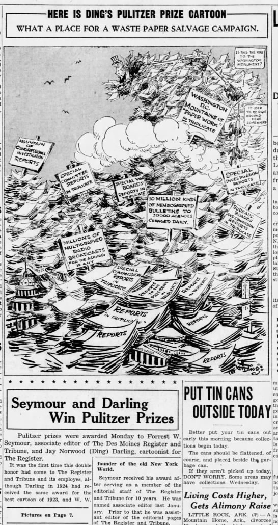Cartoon that won the 1943 Pulitzer Prize