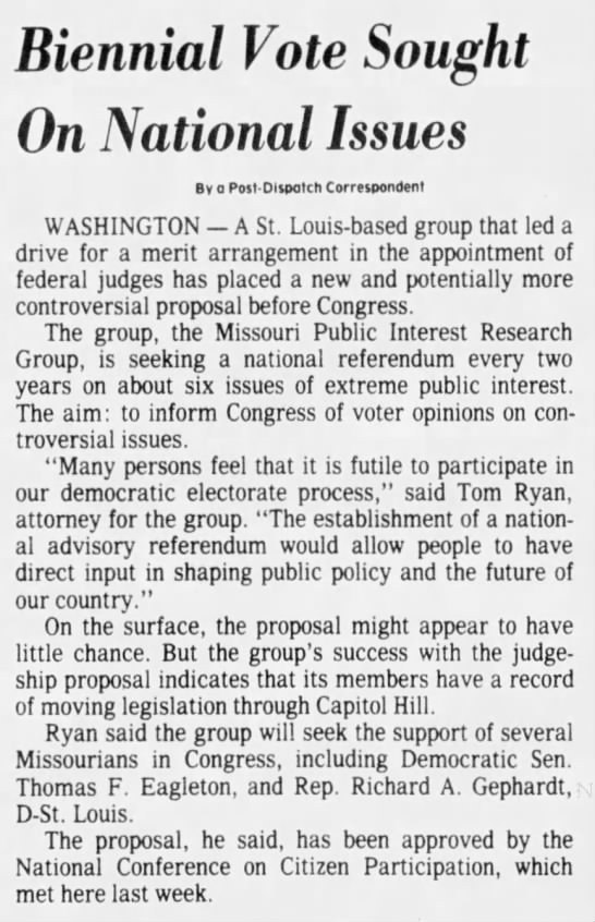 National Advisory Referendum, October 4, 1978, St. Louis Post-Dispatch