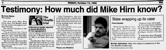 Oct 13, 1995, Monfils Homicide: How Much did Hirn know Pg 1