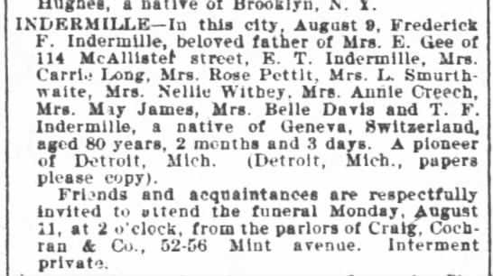 Frederick Indermille_obit 11 Aug 1902