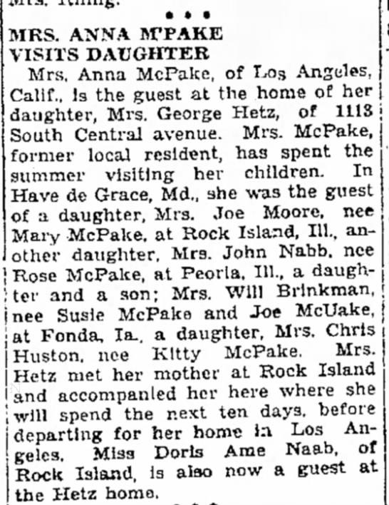 Brulington Hawk-Eye 28 Aug 1931