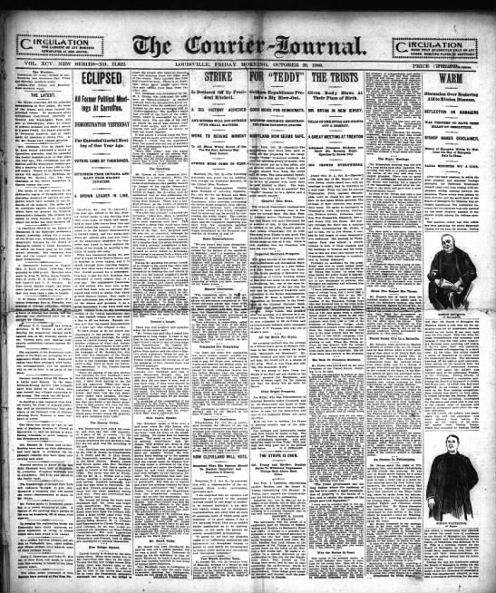 Courier-Journal, 26 Oct 1900, page 1