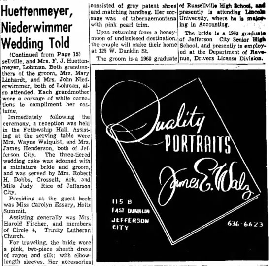 Sunday News and Tribune 8-30-1964 Judith & Steven N. Part 2