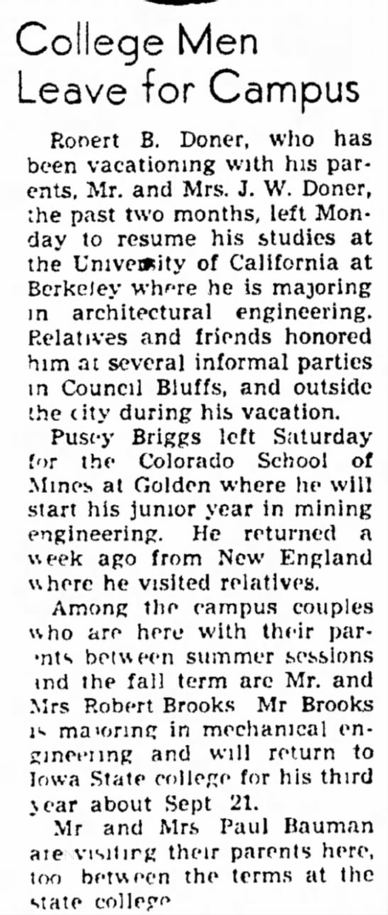 College Men leave for Campus - Council Bluffs Nonpareil - 8 Sep 1947, Page 3