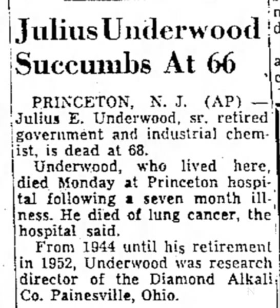 Julius Underwood Death