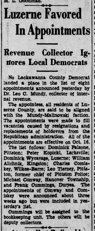 Dominick WycavageScranton Republican12 Oct 1934