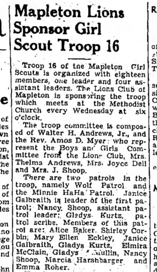 Marcia Harshbarger-girl scouts-TDN-p.14021 Oct 1947