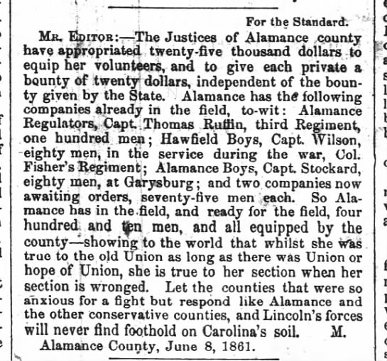 18610612 Bounty for Alamance soldiers in the 6th NCST