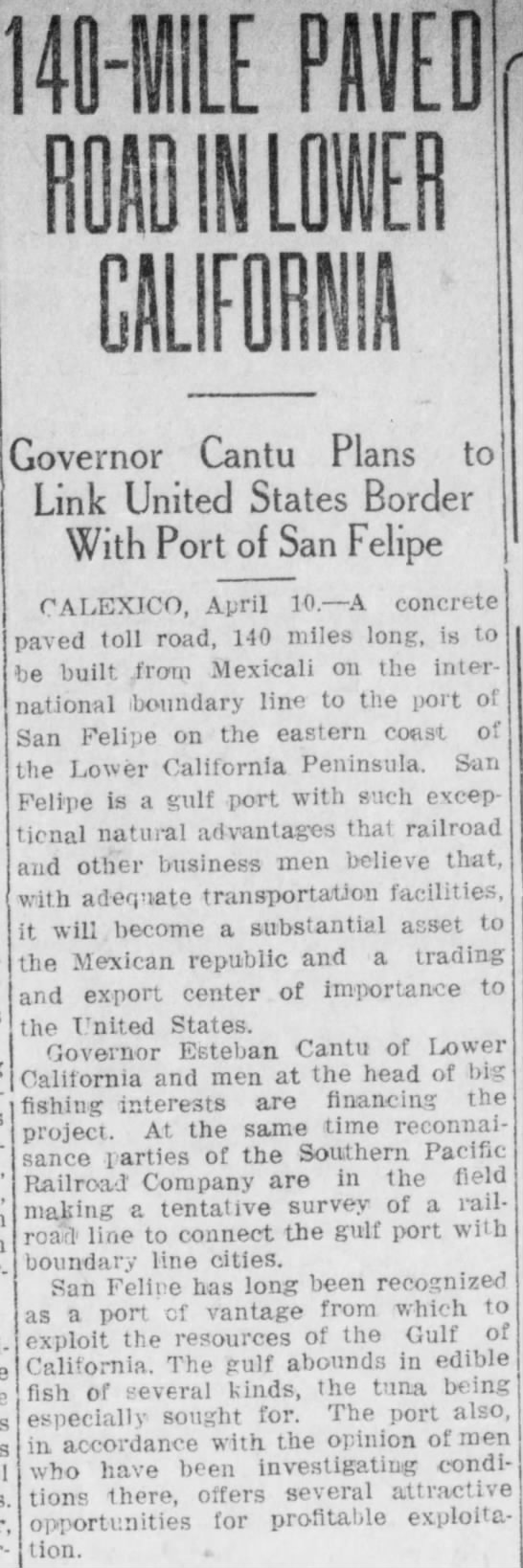 San Felipe 10 de abril de 1919