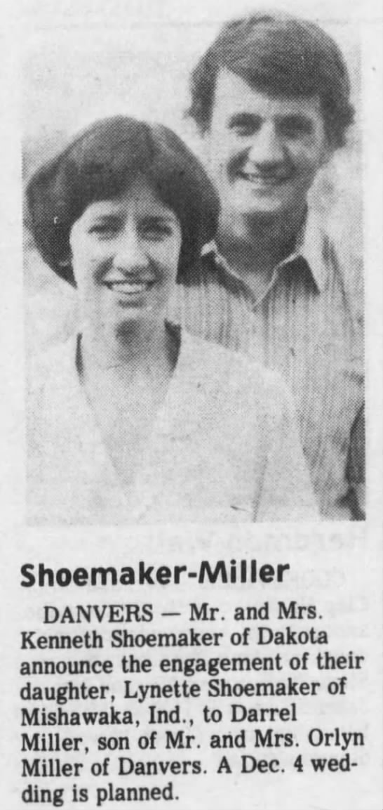 Shoemaker-Miller engagement announcement