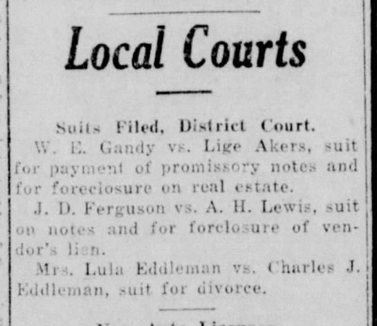 The Vernon Weekly Record, TX, 7 Jul 1927 p2 c6