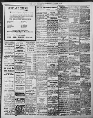 The Daily Deadwood Pioneer-Times from Deadwood, South Dakota on March 31, 1898 · Page 3