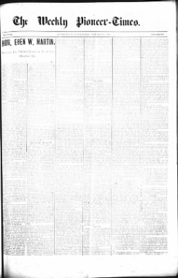The Weekly Pioneer-Times from Deadwood, South Dakota on October 18, 1900 · Page 1