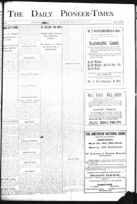 The Daily Deadwood Pioneer-Times from Deadwood, South Dakota on August 23, 1899 · Page 1
