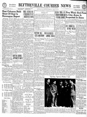 The Courier News from Blytheville, Arkansas on April 29, 1940 · Page 1