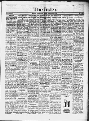 The Index From Hermitage Missouri On December 11 1952 Middot Page 1