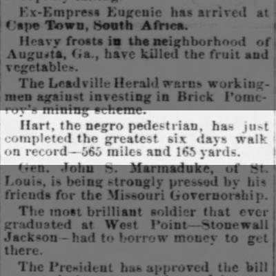 Hart, pedestrian, 1880, Missouri