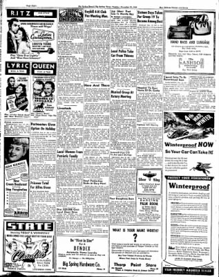 Big Spring Daily Herald from Big Spring, Texas on November 21, 1944 · Page 12
