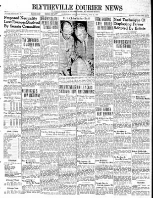 The Courier News from Blytheville, Arkansas on July 11, 1939 · Page 1