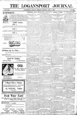 Logansport Pharos-Tribune from Logansport, Indiana on June 2, 1896 · Page 1