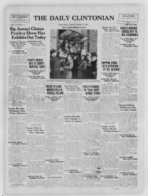 The Daily Clintonian from Clinton, Indiana on November 19, 1936 · Page 1