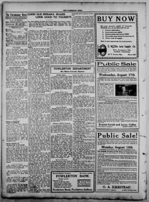 The Fairmount News from Fairmount, Indiana on August 11, 1921 · Page 4