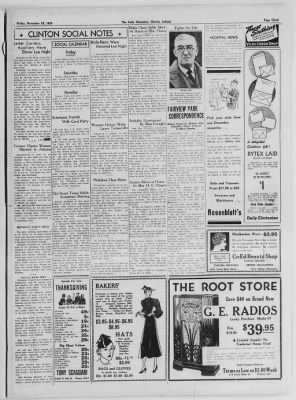 The Daily Clintonian from Clinton, Indiana on November 20, 1936 · Page 3