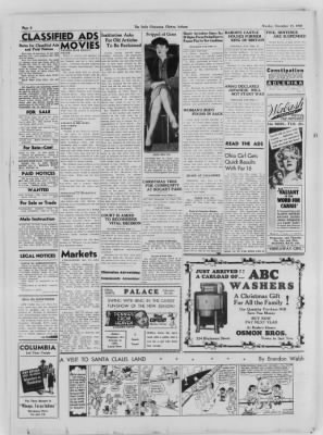 The Daily Clintonian from Clinton, Indiana on December 14, 1936 · Page 6