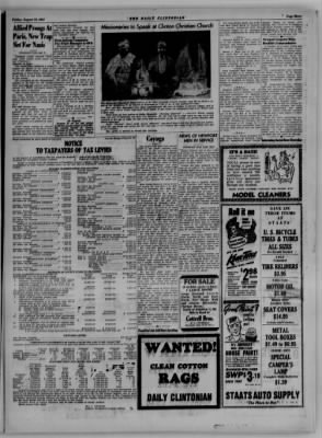 The Daily Clintonian from Clinton, Indiana on August 18, 1944 · Page 3
