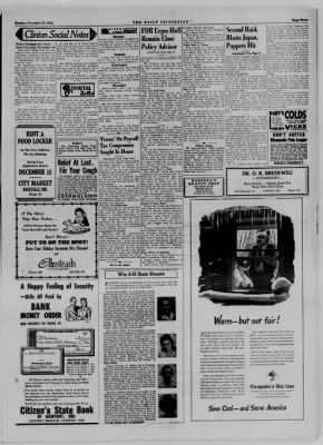 The Daily Clintonian from Clinton, Indiana on November 27, 1944 · Page 3