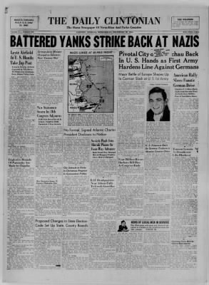 The Daily Clintonian from Clinton, Indiana on December 20, 1944 · Page 1