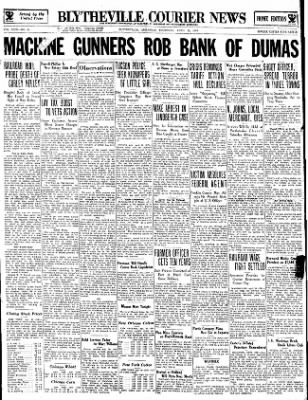 The Courier News from Blytheville, Arkansas on April 26, 1934 · Page 1