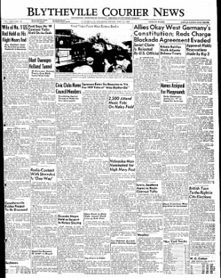 The Courier News from Blytheville, Arkansas on May 13, 1949 · Page 1
