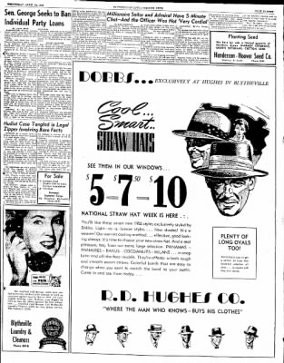 The Courier News from Blytheville, Arkansas on April 30, 1952 · Page 9