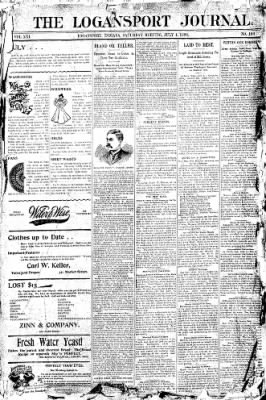 Logansport Pharos-Tribune from Logansport, Indiana on July 4, 1896 · Page 1