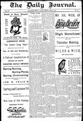 Logansport Pharos-Tribune from Logansport, Indiana on March 3, 1891 · Page 1
