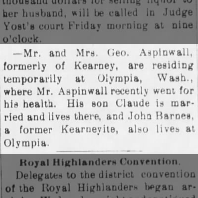 The Kearney Daily Hub - Kearney, Nebraska - Thursday, May 16, 1901 - Page 3 - Column 3