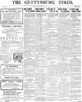 The Gettysburg Times from Gettysburg, Pennsylvania on November 21, 1913 · Page 1