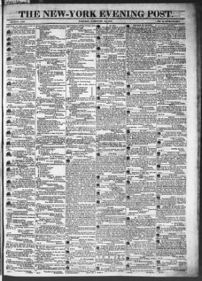 The Evening Post from New York, New York on February 24, 1818 · Page 1