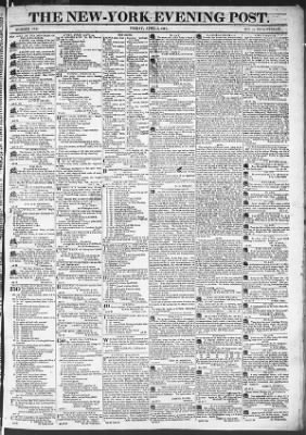 The Evening Post from New York, New York on April 3, 1818 · Page 1