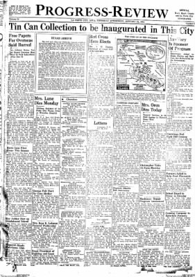 Progress-Review from La Porte City, Iowa on January 14, 1943 · Page 1