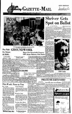 Sunday Gazette-Mail from Charleston, West Virginia on August 6, 1972 · Page 1