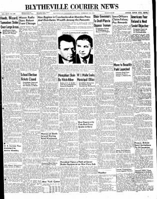 The Courier News from Blytheville, Arkansas on February 28, 1948 · Page 1