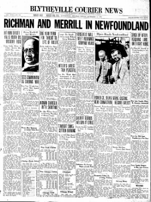 The Courier News from Blytheville, Arkansas on September 14, 1936 · Page 1